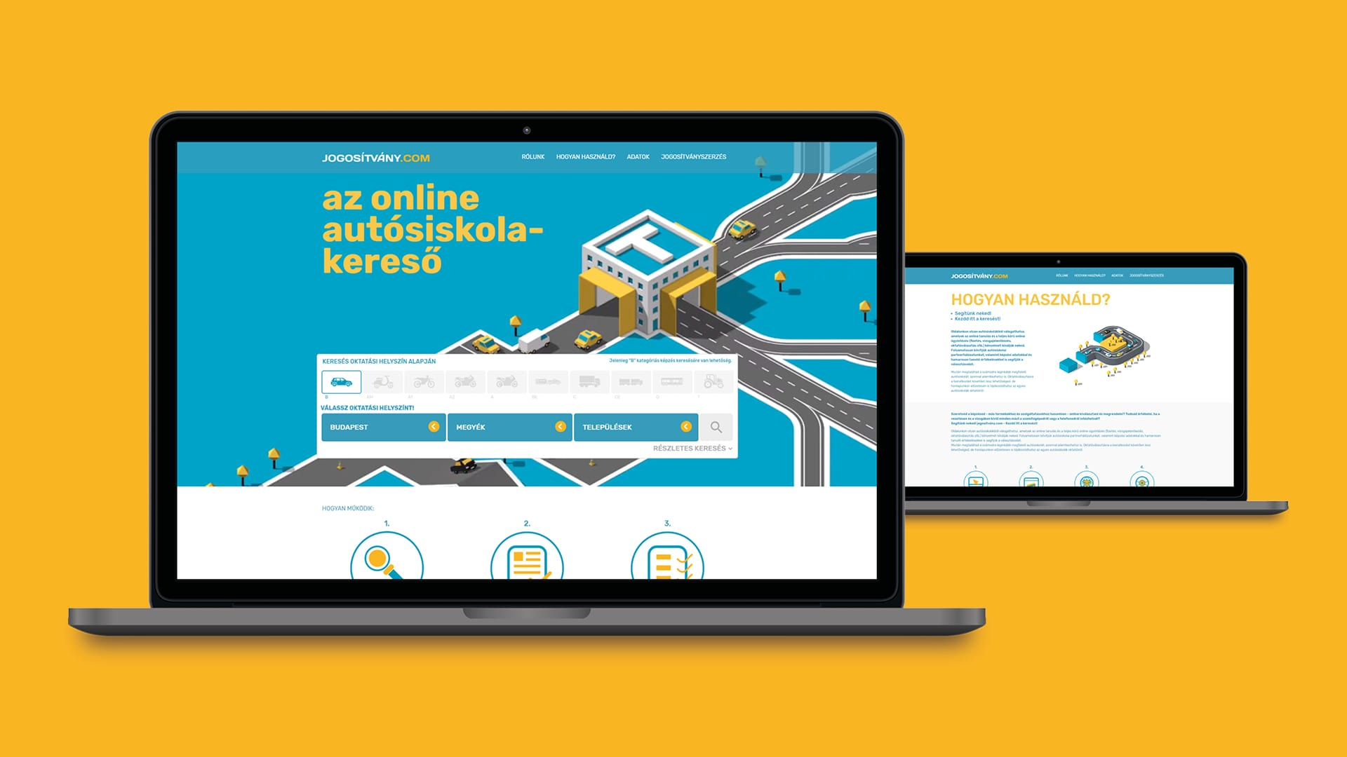 Jogosítvány.com Vizuális arculat  és weboldal tervezése