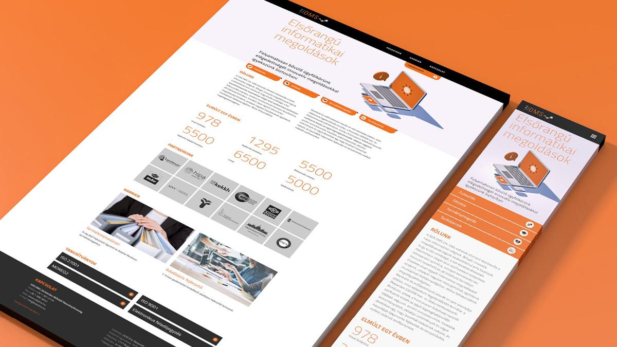 SDA DMS weboldal újratervezés