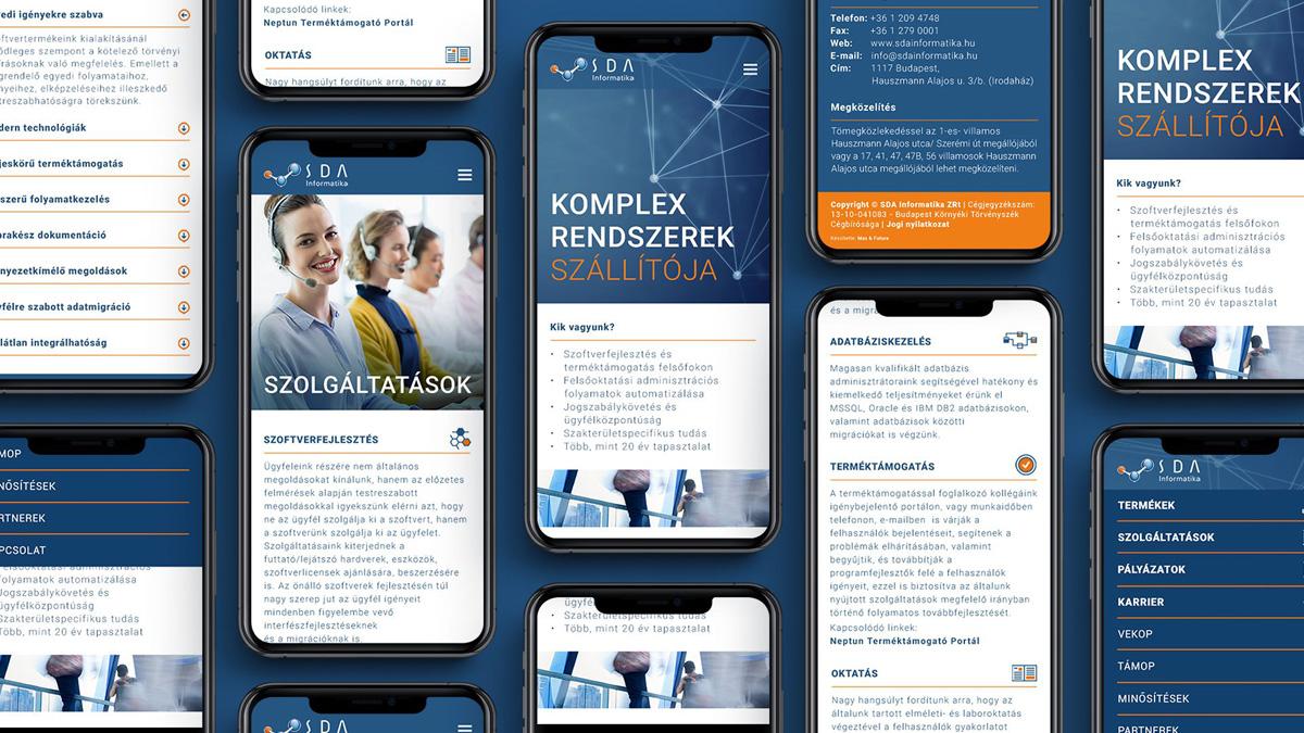 SDA Informatika website redesign